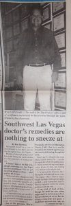 Dr. Tim: Southwest Las Vegas doctor's remedies are nothing to sneeze at